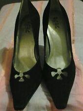 BCBG Paris Women's Black Suede High Heel Pumps Shoe Size 10B