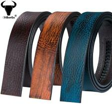Genuine Leather Mens Replacement Belts Ratchet Brown Tan Blue Waist Straps 34 44