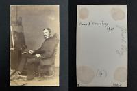 Henri d'Onsembray Vintage albumen print. CDV.Paris, 21-10-1832 / Fleury-s