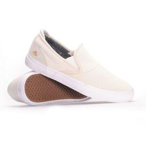 Emerica Shoes Wino G6 Slip On Collin Provost White White Skateboard Sneakers