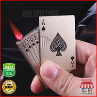 Playing Cards Cigar Torch Butane Lighter Windproof Cigarette Flame Refillable