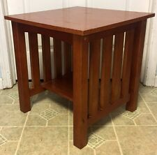 Mission Arts & Crafts Stickley Style Side Accent  Square End Table - Nice!