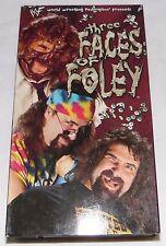 WWF WWE Three Faces Of Foley VHS Mankind Dude Love Cactus Jack Mic 1998