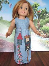 "homemade 18"" doll american girl/madame alexander birdhouse sundress doll clothes"