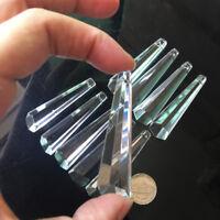 10X Hexagon Drop Glass Icicle Crystal Prism Pendant Chandelier Decor Suncatcher