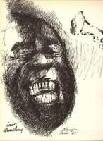 Louis Armstrong Original Vintage Leroy Neiman Print