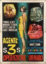 THIRTEEN DAYS TO DIE Italian 4F movie poster 39x55 EUROSPY 1965 Gasparri Art