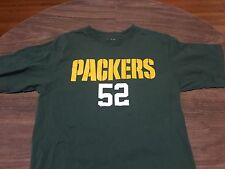 Green Bay Packers Clay Matthews 52 Medium Jersey Style T Shirt Reebok NFL