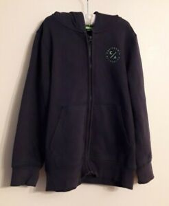 Boys Zip Up Hoodie Sweatshirt Jacket  Navy Blue Size 8-9 Years George