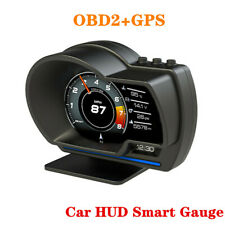 Car HUD OBD2+GPS Smart Gauge Digital Gauge with Alarm Ambient Light OBD2 Meter