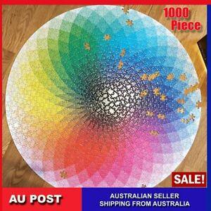 Jigsaw Puzzles 1000 Pcs Adult Kids Rainbow Educational Puzzle Difficult Art DIY