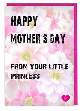 Día de la Madre Tarjeta de Su Princesita - para Mamá Nan Momia Nanny Abuela