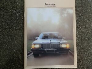 HOLDEN  WB STATESMAN AND CAPRICE  BROCHURE