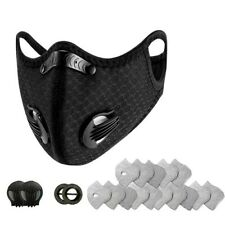 USA SUPPLY REUSABLE WASHABLE FACEMASK with 15 FILTERS and 2 VALVES.