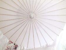 JAPANESE XL 102cm SNOW WHITE PAPER PARASOL UMBRELLA CHINESE PARTY CRAFT WEDDING