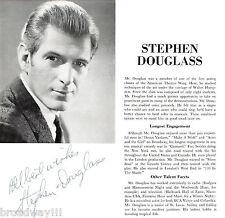 """Stephen Douglass (Signed) """"I DO! I DO!"""" Schmidt & Jones 1967 Program Insert"""