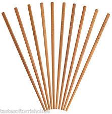 Kitchen Craft 10 x Oriental Chinese Reusable Bamboo Wooden Chopsticks