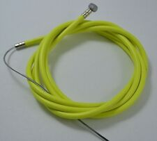 "BICYCLE BIKE 1 DOUBLE SHEATH HOUSING 60"" + 1 BRAKE CABLE 68"" NEON YELLOW + CAP"