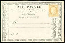 FRANCE : Yvert #56 Unused on Post Card, Very Fine. Catalog €500 as unused.