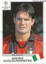 N°300 GUGLIELMINPIETRO MILAN.AC UEFA CHAMPIONS LEAGUE 2000 STICKER PANINI ITALIA