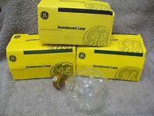 Four Vintage GE Traffic Signal Bulbs 67 watt 120V Watt Miser Lamp