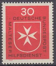 Germany Bund BRD 1969 Mi 600 ** Malteser Hilfsdienst Kreuz Cross