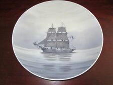 "Royal Copenhagen~11"" Diam.~Clipper Sail Ship~1128X~Decorative Wall Plate~Gray/Bl"