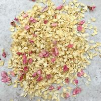 Natural Dried Biodegradable Wedding Throwing Confetti Pink Dried Petal Ivory 1L