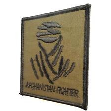 olive drab forest AFGHANISTAN FIGHTER isaf skull emblema touch fastener patch