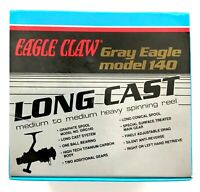 🌟 Eagle Claw Gray Eagle Long Cast Medium Titanium Carbon Spinning Fishing Reel