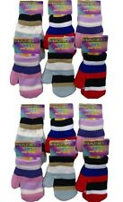 Pair of STRIPED Magic Mittens/Gloves for Baby/Toddler/Boys/Girls/Kids Brand New