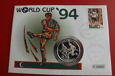 *Malediven 50 Rufiyaa 1993 Silber PP* Fußball WM 1994 in Numisbrief (ALB11)