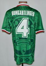 MEXICO 1998 HOME FOOTBALL SHIRT #4 BUMGARTLINGER SIZE XL ABA SPORT RETRO REPLICA