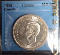1939  Canada Dollar  -  Graded - CCCS MS-62
