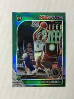 CARSEN EDWARDS 2019-20 NBA Hoops Premium Stock GREEN PRIZM SP RC #227!