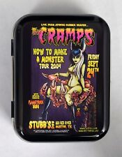 CRAMPS JOHNNY ACE STUDIOS MONSTER PSYCHOBILLY ZOMBIE HINGED TOBACCO TIN MINTS