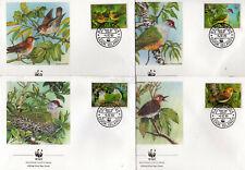COOK Islands 1989 WWF Oiseaux Birds Yv 994/997 FDC