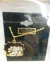 Betty Boop necklace Austrian crystal only one piece 10 inch
