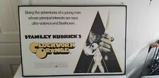 Vintage Clockwork Orange Movie Promo Poster Stanley Kubrick