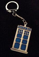 GRANDE Tardis Portachiavi Catena blu della polizia di Dr Who Cabina telefonica Charm Clip Chiave * Regno Unito *
