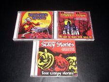 3 Halloween CD's Monster Music Haunted House Scarey Stories