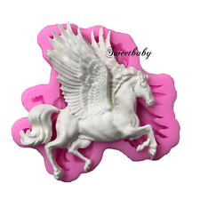 Silicone Flying Horse Cake Chocolate Cookie Fondant Soap Decorating Cutter Mold