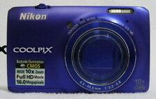 Nikon COOLPIX S6300 16.0MP Digital Compact Camera HDMI Blue  EXCELLENT - TESTED