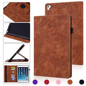 Leather Case For iPad 2345678 9.7 10.2 10.5 11 12.9 Folio Stand Cover Sleep/Wake