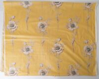 Deadstock 1930s French Chintz Design Arras Yellow Roses on Basketry Lovely!