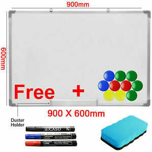 900x600MM Magnetic Dry Wipe Whiteboard White Notice Memo Board Pen Home Office