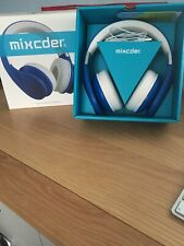 mixcder bluetooth head phones blue