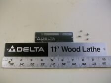 "Aluminum Name & Model Plates & Brads  From Delta Rockwell 11"" Wood Lathe 46-140"