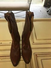 Nocona Western Boots size 7 Medium Only worn 2x Chestnut Brown  Color