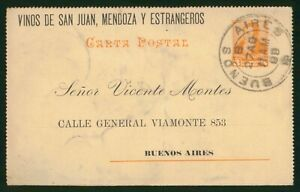 MayfairStamps Argentina Buenos Aires to City 1888 Stationery Card wwp62297